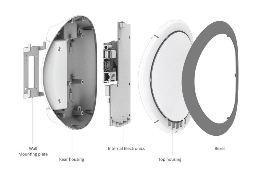 The parts of the device